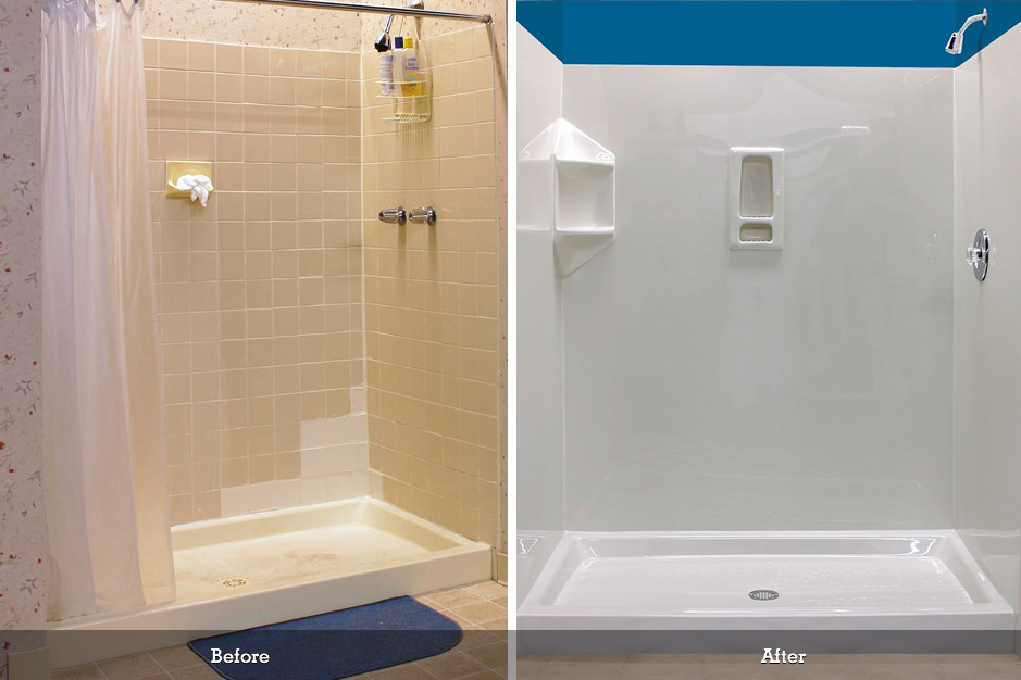 Bath liners installed over your existing tub | Mr Tub