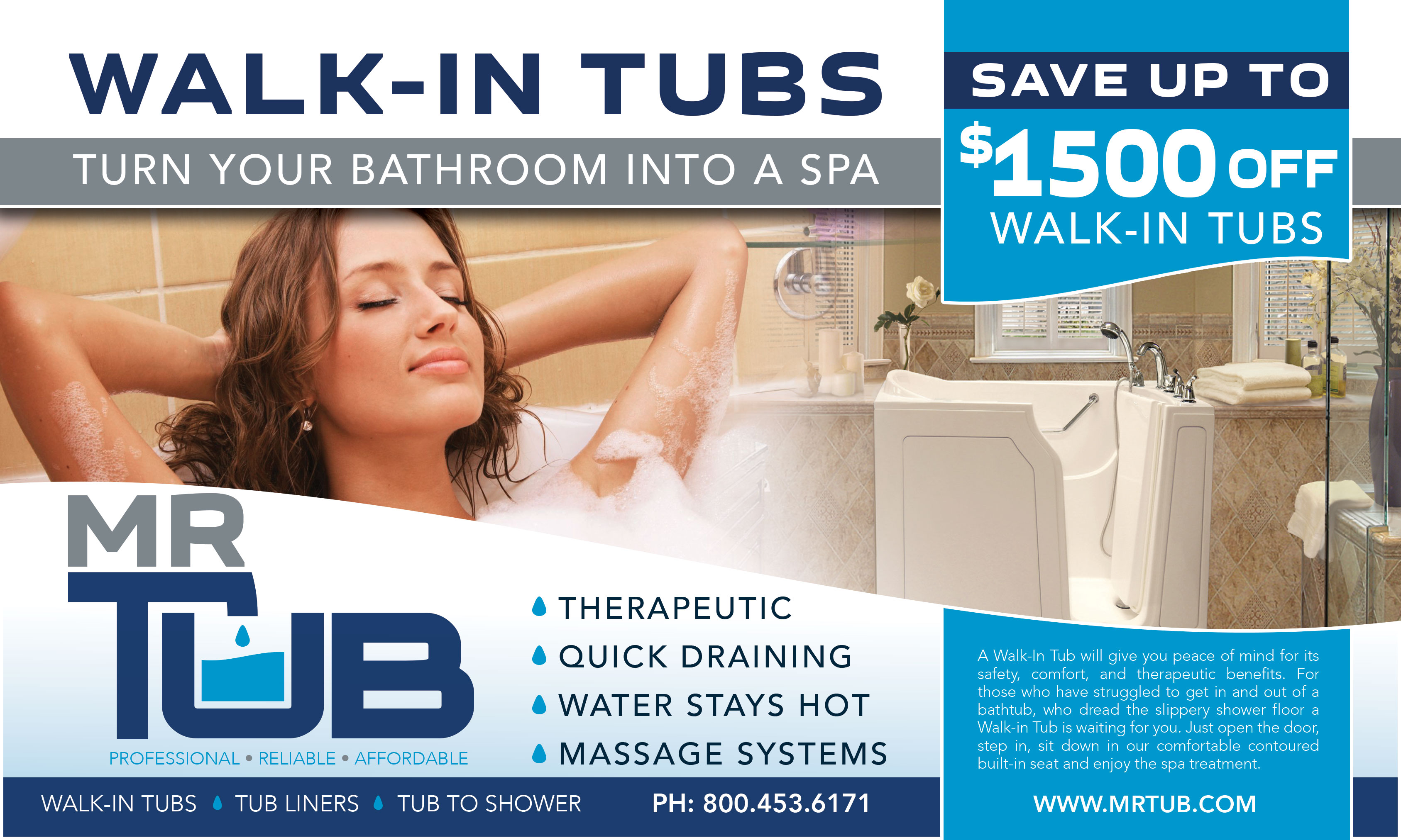 Special deal from Mr. Tub